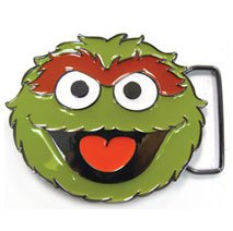Sesame Street TV Series OSCAR Enamel BELT BUCKLE
