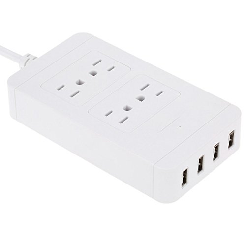 Iextreme 4 USB Port Power Supply Board Socket Charger - White by Iextreme (Image #2)
