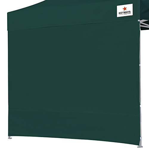 Keymaya Instant Canopy SunWall for 10x10 Feet, 10x20 Feet Straight Leg pop up Canopy, 1 Pack Sidewall Only, Forest Green ()