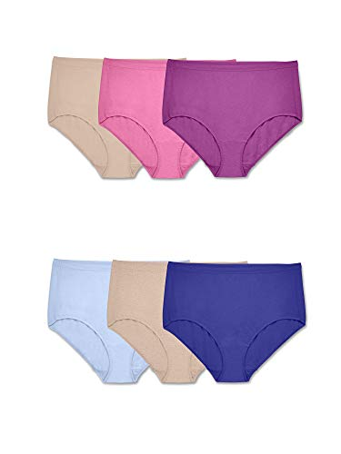 - Fruit of the Loom Size Women's Plus Assorted Beyondsoft Brief Panties, 6 Pack, 11