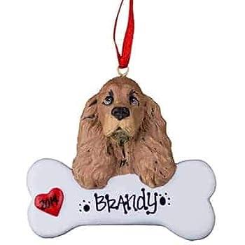Amazon.com: Cocker Spaniel Personalized Ornament - (Unique ...