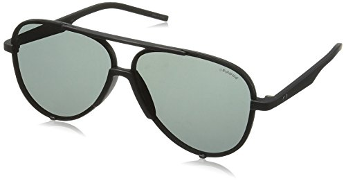 Polaroid Sunglasses Pld6017s Aviator, Matte Black/Gray Polarized, 60 - Sunglass Polaroid