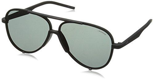 Polaroid Sunglasses Pld6017s Aviator, Matte Black/Gray Polarized, 60 - Aviator Sunglasses Polaroid