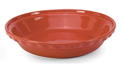 Chantal Ceramic Deep Dish Pie 9-1/2 Inch, Glossy Cinnabar