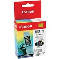 Canon Multipass C530 Inkjet (Canon Model BCI-21C Color Ink Tanks, Pack Of 2)