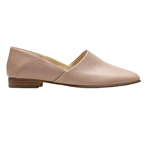 - CLARKS Womens Pure Tone Loafer, Nude Leather, Size 9