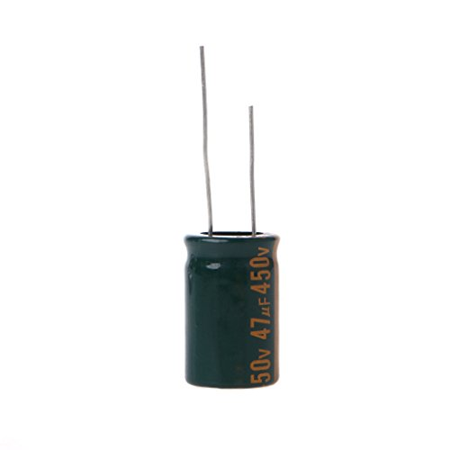 Sixsons 450V 47uF Electrolytic Capacitor,Radial Capacitor Assortment Kit,High Frequency Low ESR Capacitors Replace,Long Life Durable Capacitors,Cylindrical Capacitor