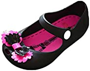 Toddler Kids Girls Sandals & Rain Shoes Jelly Bowknot Fish Mouth Summer Princess Single S