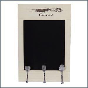 Chalkboard Shabby Chic Wooden Kitchen Menu with Hooks