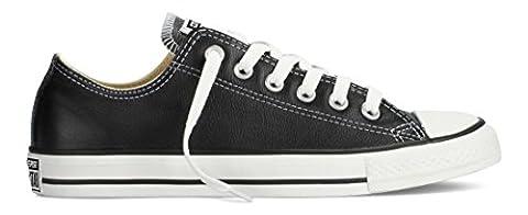 Converse Unisex Chuck Taylor All Star Low Top Leather Black Sneaker - 7 Men - 9 Women - Unisex Black Leather