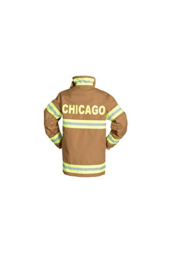 Aeromax Jr. CHICAGO Fire Fighter Suit, Tan, Size 4/6.  The best #1 Award Winning firefighter suit.  The most realistic bunker gear for kids everywhere.  Just like the real gear!
