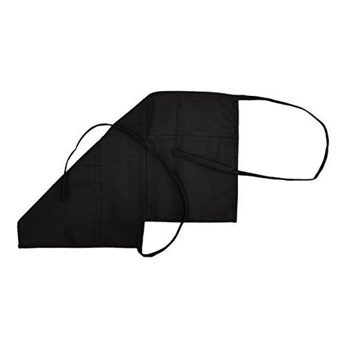 Reversible Waist Apron (3-Pocket (Reversible) Waist Apron with Extra Long Ties (2, Black))
