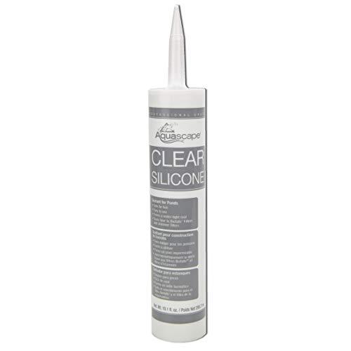 Aquascape 82000 Clear Silicone Sealant Safe for Fish and Plants, 10.1-Ounce Caulk Tube -