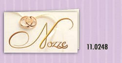 100 PIEZAS Notas tarjeta detalle de boda bodas de oro con bandas ...