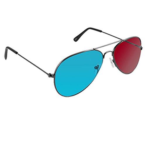 uxcell Full Frame Magenta Cyan Lens Anaglyph 3D Movie Game Eyeglasses Glasses