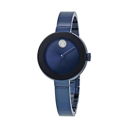 Bold Blue IP Stainless Steel Ladies Watch - Movado 3600425