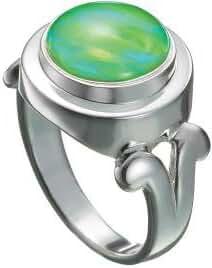 Kameleon Silver Ring Swirls Top Size 8 * Jewelpop Authentic Silver New KR14size 8