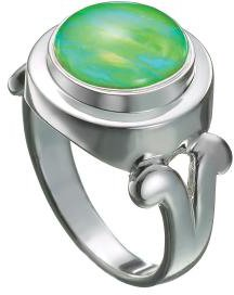 (Kameleon Sterling Silver From the Heart Ring KR014, Size 6 (JewelPop sold separately) )
