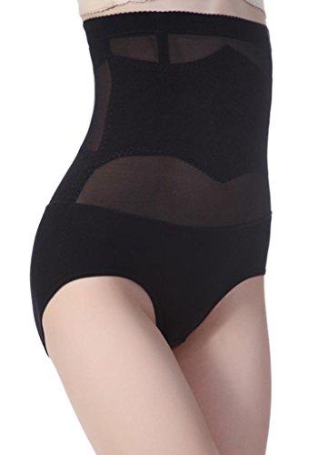 Alivila.Y Fashion Women's Shapewear Hi-Waist Brief Firm Control Panties F826-Black-XL