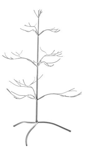 Red Co. Ornament Tree Christmas Décor Jewelry and Accessory Display in Silver Finish - 25