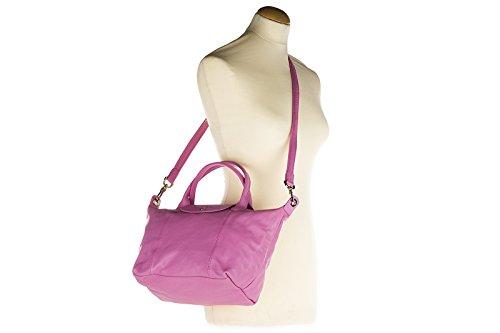 Longchamp borsa donna a mano shopping in pelle nuova rosa