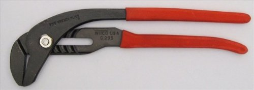 Wilde Tool G295.B/CC Clam Card Black Oxide Smooth Jaw Pipe Wrench Pliers, 10-Inch, Satin