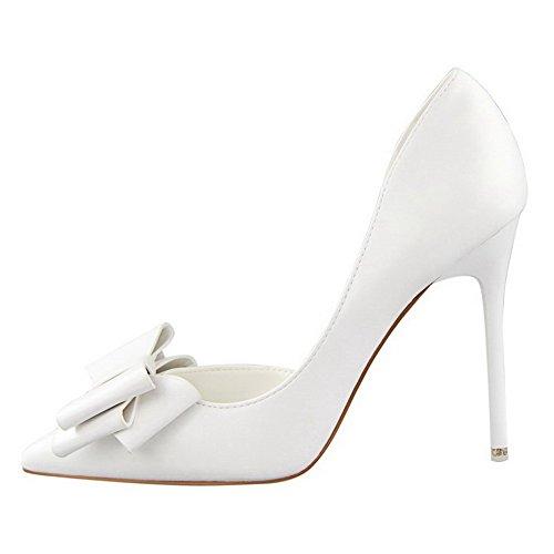 Femme Tire Couleur Aalardom L Chaussures Unie Pointu Stylet 1RdTwPq