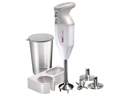 Bamix Mono M133 - 140 watt 2 Speed 3 Blade Immersion Hand Blender with Beaker and Wall Bracket by Bamix