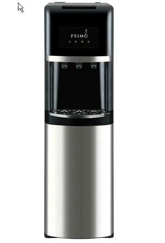 Primo Bottom Load Water Cooler Stainless Steel/Black, 3 or 5 Gallon