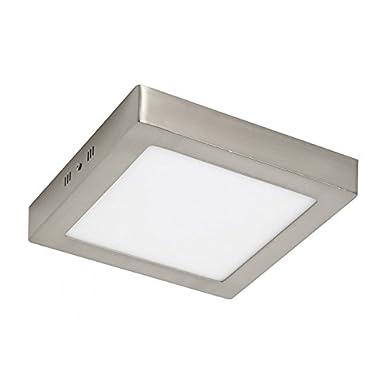 Plafón LED Square Níquel 24W equivalente a 200W de incandescencia 1920Lm 4000K Luz Neutra ¡¡2 AÑOS DE GARANTÍA!! Envío GRATIS en compras superiores a 36 Euros Iluminashop [Clase de eficiencia energética A++]