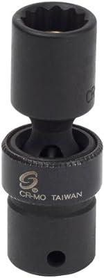 Sunex 810zuMMG 1//4-Inch Drive 10-Mm 12-Point Magnetic Universal Impact Socket
