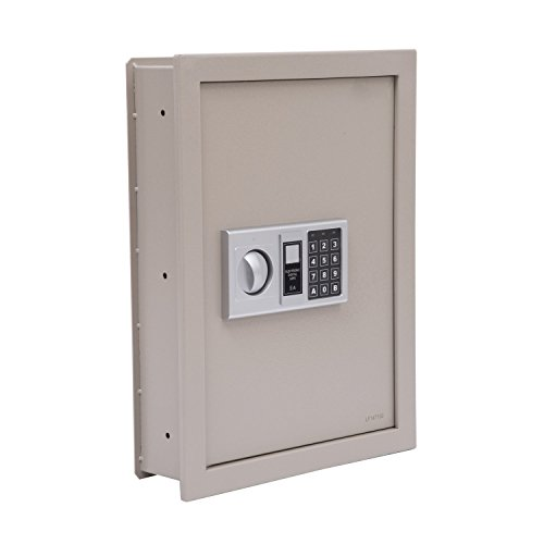 HomCom 19'' Flat Recessed Digital Keypad Home Security Gun Cash Wall Safe Box