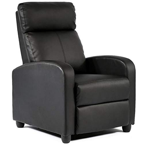 Yaheetech Single Recliner Chair PU Leather Recliner Sofa Modern Recliner Seat Club Chair Home Theater Seating