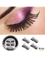 Vassoul Dual Magnetic Eyelashes-0.2mm Ultra Thin Magnet-Lightweight & Easy to Wear-Best 3D Reusable Eyelashes Extensions by Vassoul