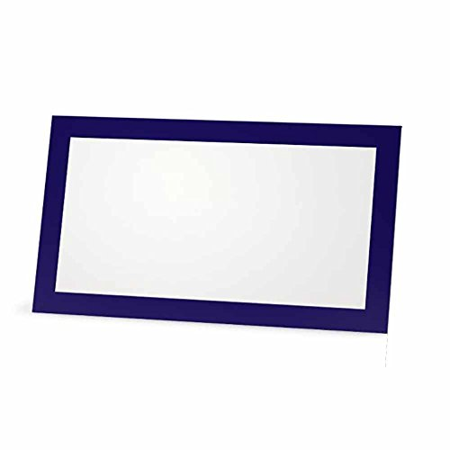 Stationery Creations Navy Blue Place Cards - Flat or Tent Style - 10 or 50 Pack (50, FLAT STYLE) by Stationery Creations