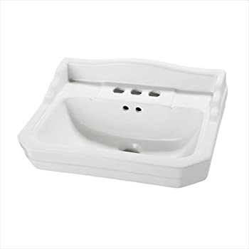 L Pedestal Sink Basin In White