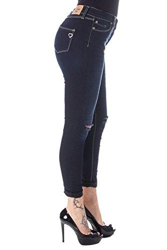 Scuro Donna Jeans Skinny P19 Please Denim Strappato cHYqzcna