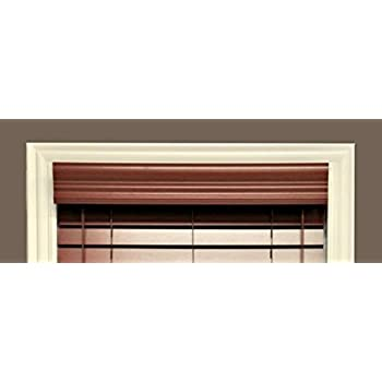 Amazon Com Delta Blinds Supply Faux Wood Crown Valance