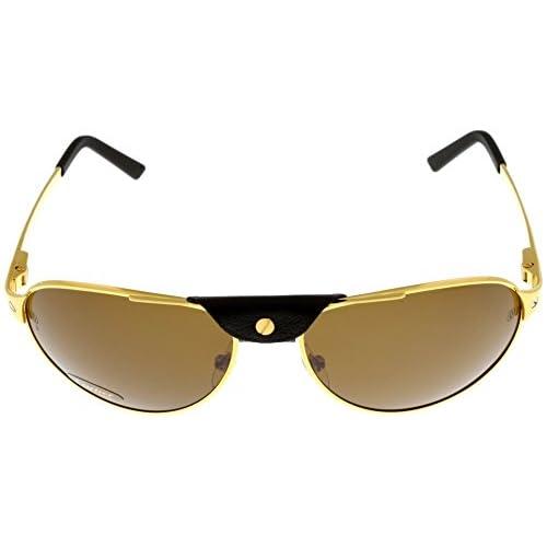 3a7e4d2a975 50%OFF Cartier Edition SANTOS-Dumont Sunglasses Aviator Unisex Shiny Gold  Polarized T8200888