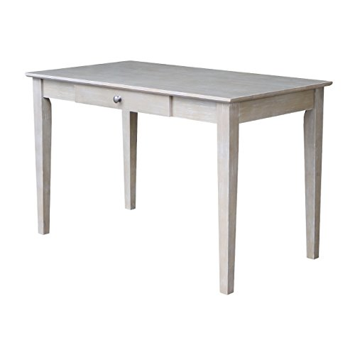 International Concepts OF09-41 Writing Desk with Drawer, Washed Gray Taupe