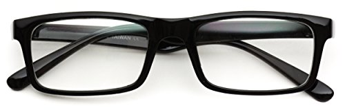 Glossy Tiny Small Square Wayfarer Nerd Glasses Thin - Glasses Square Frame Black