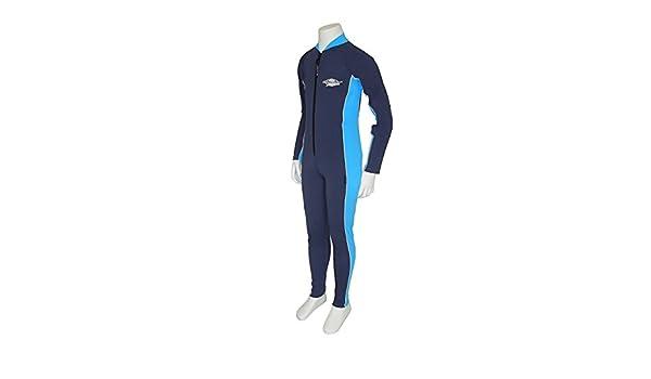d35f1dfc29d6a Stingray UV Sun Protection Full Body Coverage UPF SPF Swimsuit for Boys &  Girls- 1-piece suit - Long sleeve, Long leg Swimwear -Navy/Azure, Size 12.