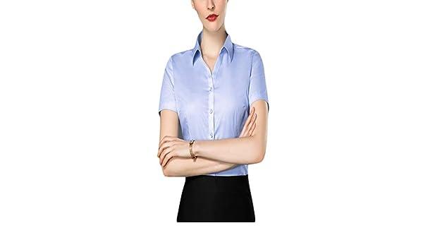 Fiyomet - Camisa Profesional para Mujer con Cuello en V y Manga ...