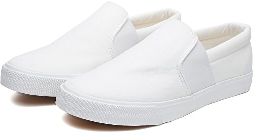 Odema Mens Driving Casual Slip On Loafers Canvas Shoes Fashion Sneakers White I2pHxclgoI