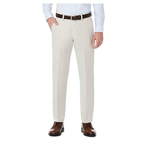 Haggar H26 Men's Performance 4 Way Stretch Slim Fit Trouser Pants - String (33x30)