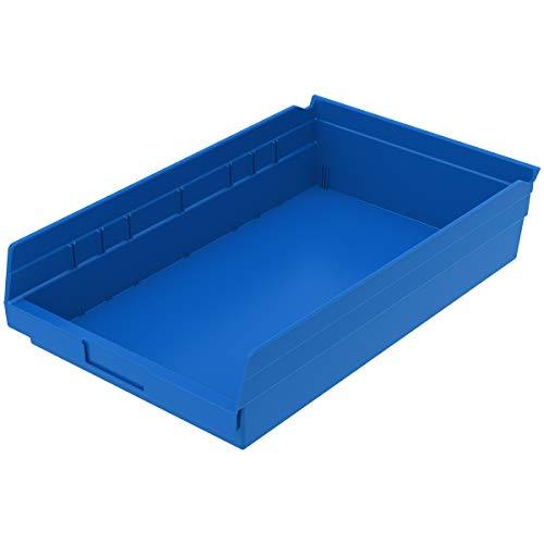 Akro-Mils, 30178BLUE, Shelf Bin, 17-7/8 In. L, 4 In. H, Blue