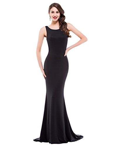 GRACE KARIN Plain Sleeveless Bodycon Long Evening Dresses S CL9648-1 -