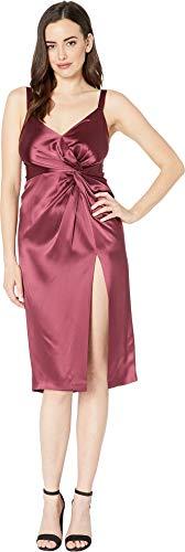 Jill Jill Stuart Women's Satin Cocktail Dress with Twist Detail Currant 0