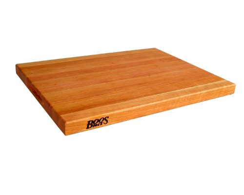 John Boos CHY-R02 Cherry Wood Edge Grain Reversible Cutting Board, 24 Inches x 18 Inches x 1.5 Inches - Butcher Block Restaurant
