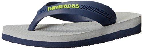 Havaianas Kids Max Sandal Flip Flops (Toddler/Little Kid), Navy/Ice Grey, 31-32 BR(2 M US Little Kid)